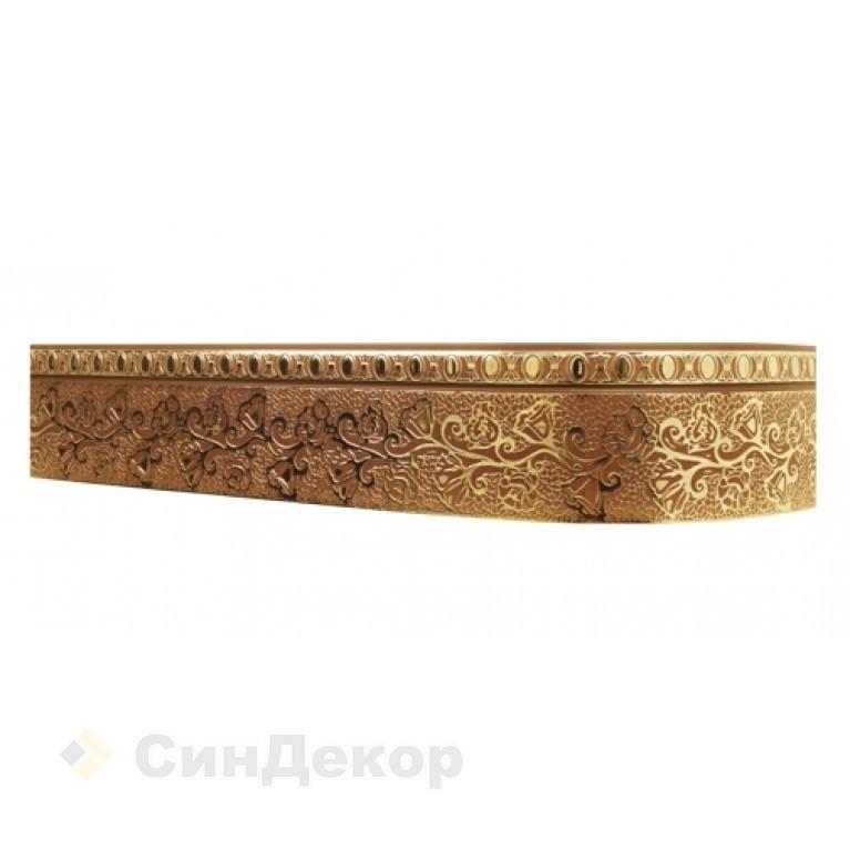 Лента «Кружево» Шоколадное золото 7см